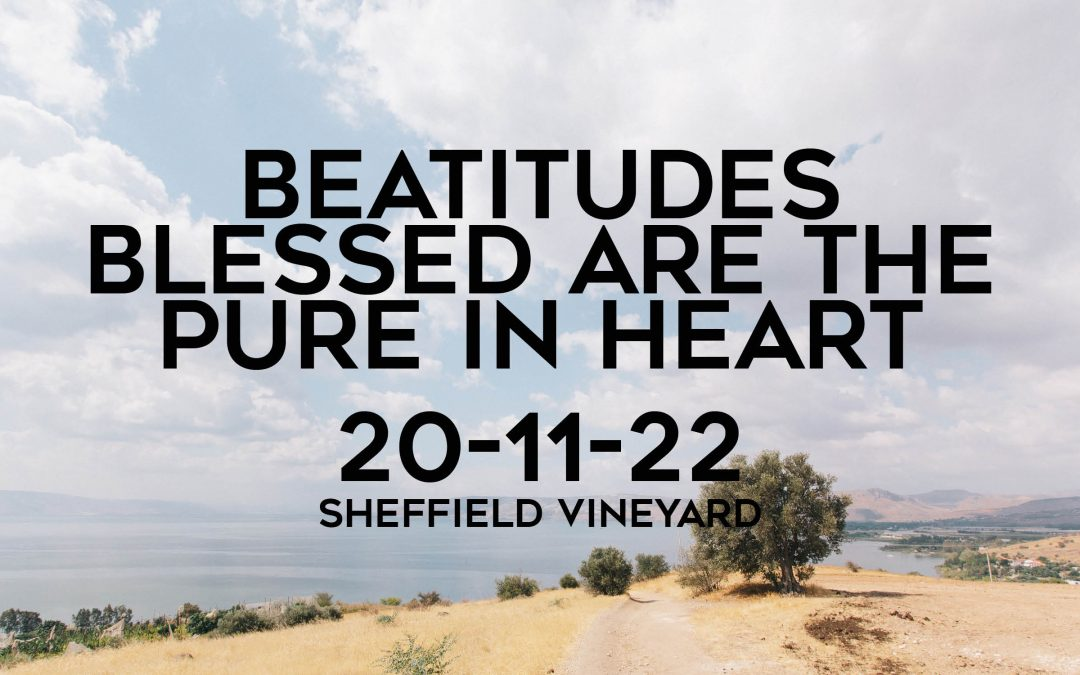 Beatitudes – Blessed are the pure in heart