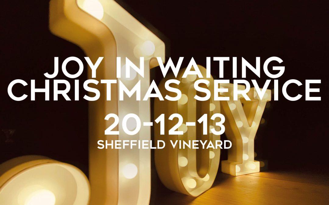 Christmas – Joy in waiting