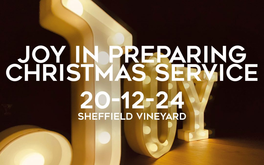 Christmas – Joy in preparing
